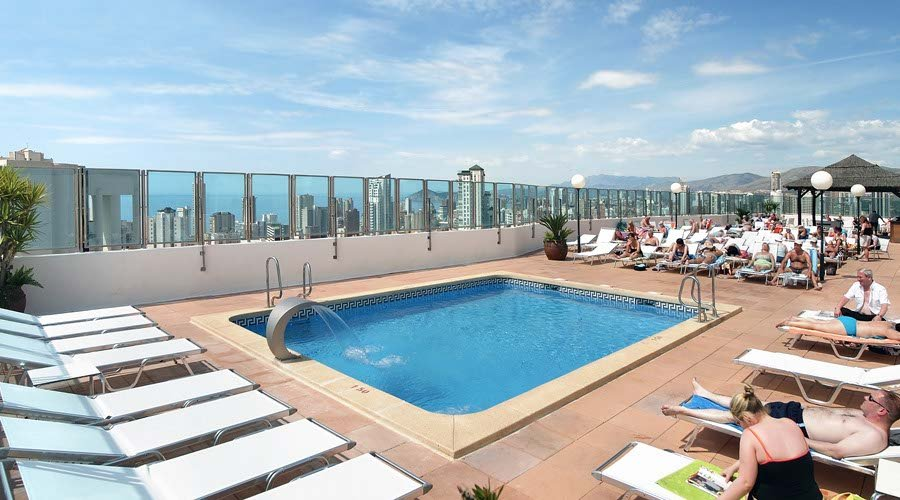 Club pool terrace hotel benidorm